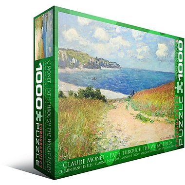 Chemin dans les Bles by Claude Monet Puzzle, 1000 Pieces