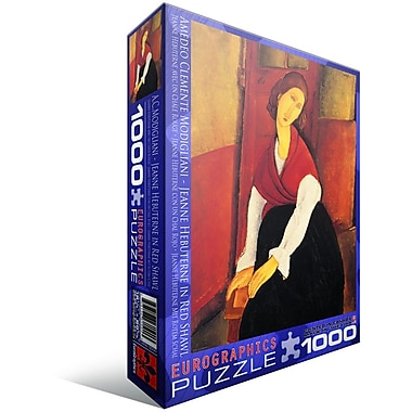 Jeanne Hebuterne in Red Shawl by Amedeo Modigliani Puzzle, 1000 Pieces