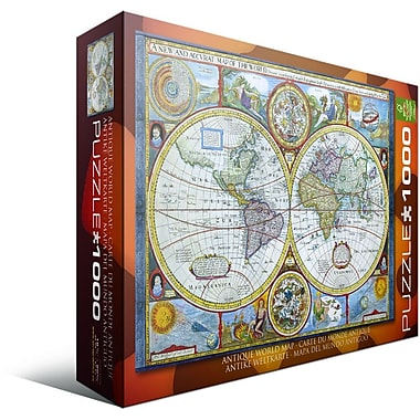 New and Accurate Map of the World Puzzle, 1000 Pieces