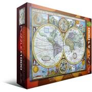Casse-tête Nouvelle carte du monde précise, 1000 pièces