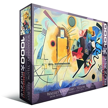 Gelb Rot Blau by Kandinsky Puzzle, 1000 Pieces