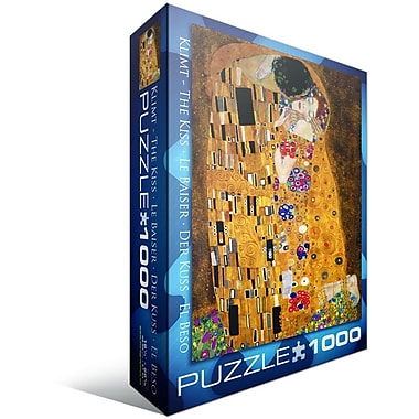 The Kiss by Gustav Klimt Puzzle, 1000 Pieces