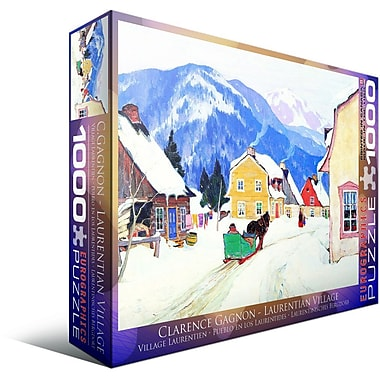 Laurentian Village by Laurance Gagnon Puzzle, 1000 Pieces