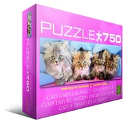 Cats Under Blanket Jigsaw Puzzle, 750 Pieces