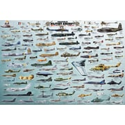 "Evolution Military Aircraft Poster, 24"" x 36"""