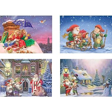 Ensemble de 4 paquets de casse-tête de Noël, 500 morceaux