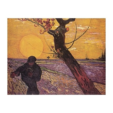 Van Gogh Farmer at Sunset Poster, 22