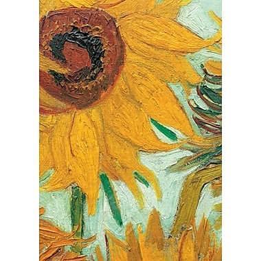 Van Gogh Sunflowers detail Poster, 27 1/2