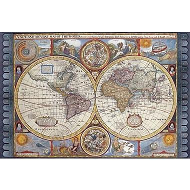 Affiche imprimée, Nouvelle carte du monde antique, 36 x 24 po