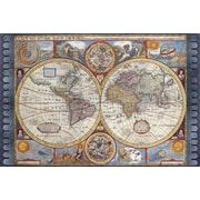 "Map - New Map of the World Antique Poster, 36"" x 24"""
