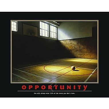 Affiche de motivation, Opportunité, 22 x 28 po