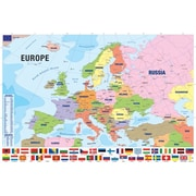 """Modern Map of Europe Poster, 36"""" x 24"""""""