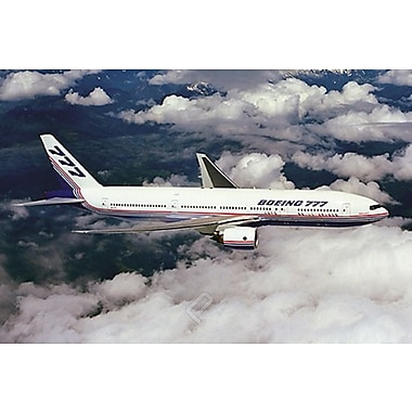 Airplane-Boeing 777-200 Flight, Stretched Canvas, 24
