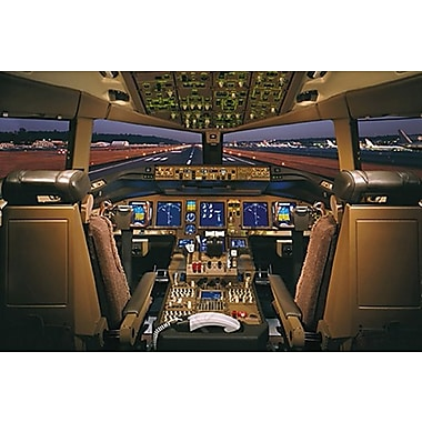 Airplane-Boeing777-200 Deck, Stretched Canvas, 24