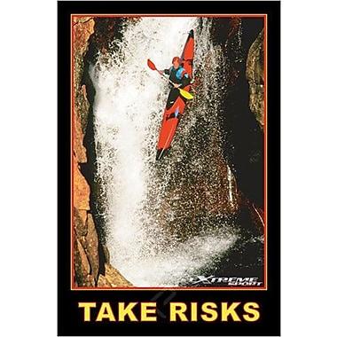 Kayak, « Take risks », affiche, 24 x 36 po