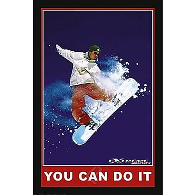 Snowboarding You Can Do It Poster, 24