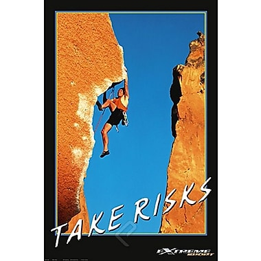 Mountain Climbing Take Risks Poster, 24