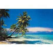 """Tropical Beach & Ocean Poster, 24"""" x 36"""""""