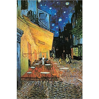 Terrasse du café le soir par Van Gogh, affiche, 24 x 36 po