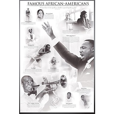 « Famous African-Americans », affiche, 24 x 36 po