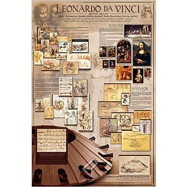 Léonard de Vinci, affiche, 24 x 36 po