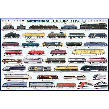 « Modern Locomotives », affiche, 36 x 24 po