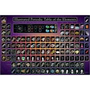 """Periodic Table Illustrated Poster, 24"""" x 36"""""""