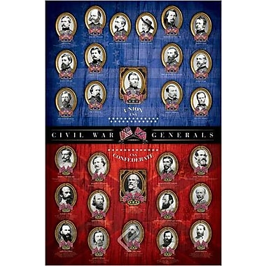 Civil War Generals Poster, 24