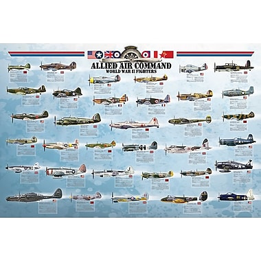 AlliedAirCommand WWII Fighters Poster, 36