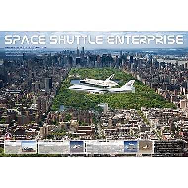 Shuttle Enterprise &Central Park Poster, 36