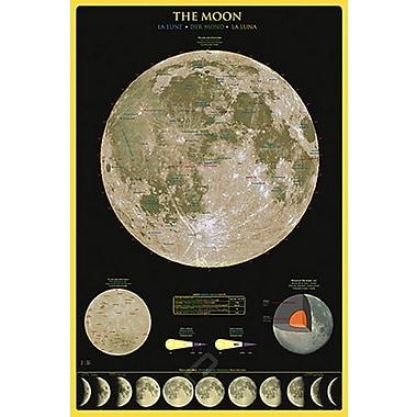 Affiche la Lune, 24 x 36 po