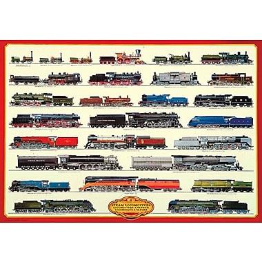 Affiche Locomotives à vapeur, 26 3/4 x 38 1/2 po