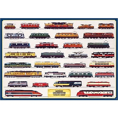 Modern Locomotives Poster, 26 3/4