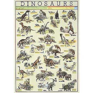 Affiche Dinosaures, 26 3/4 x 38 1/2 po