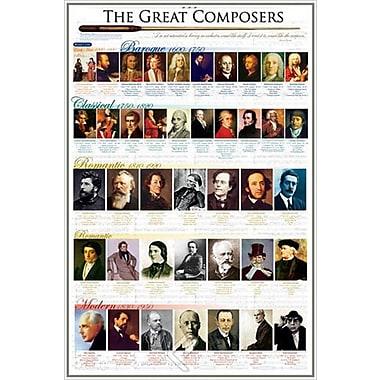 Affiche Les grands compositeurs, 24 x 36 po