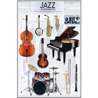 Jazz Instruments Poster, 24