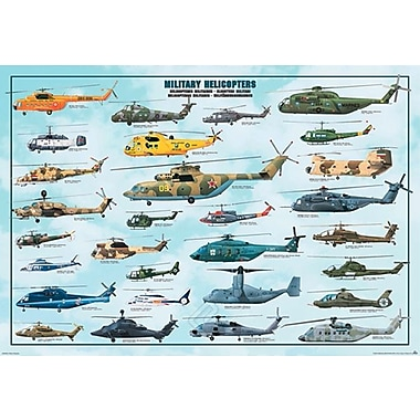 Military Helicopters Poster, 26-3/4