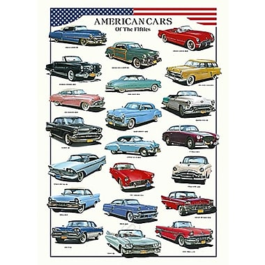 American Cars of the Fifties Poster, 26-3/4