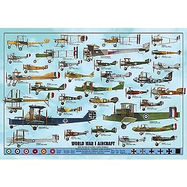 Avions de la Première Guerre mondiale, affiche de 26 3/4 x 38 1/2 po