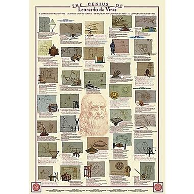 Genius of Leonardo da Vinci Poster, 26-3/4