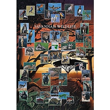 Savannah Wildlife Poster, 26 3/4
