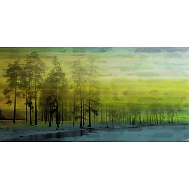 Marmont HIll 'Ice Lake' Painting Print on Wrapped Canvas; 12'' H x 24'' W