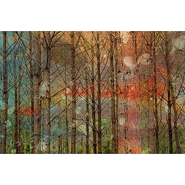 Marmont HIll Through the Trees Painting Print on Wrapped Canvas; 24'' H x 36'' W