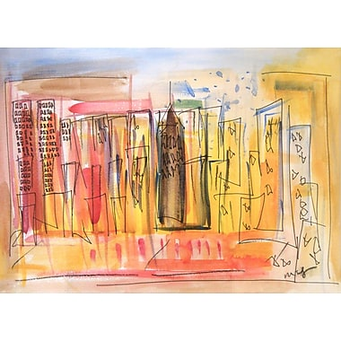 Marmont HIll 'New York' by Mara Farrington Painting Print on Wrapped Canvas; 24'' H x 36'' W