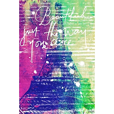 Marmont HIll 'Beautiful Paris' by Jen Lee Painting Print on Wrapped Canvas; 18'' H x 12'' W