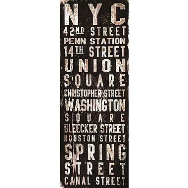 Marmont HIll Union Square by Art Collective Textual Art on Wrapped Canvas; 60'' H x 20'' W