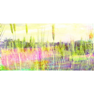Marmont HIll 'Green Grass' by Jen Lee Painting Print on Wrapped Canvas; 18'' H x 36'' W