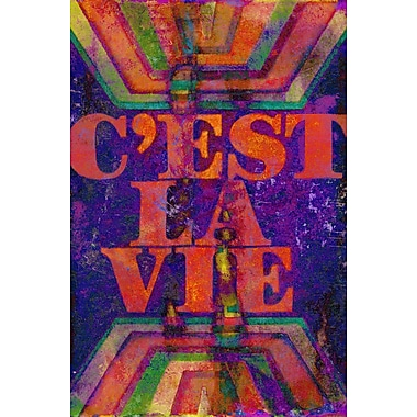 Marmont HIll 'C'Est La Vie' by Jen Lee Painting Print on Wrapped Canvas; 18'' H x 12'' W