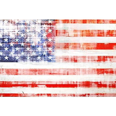 Marmont HIll 'American Flag' Painting Print on Wrapped Canvas; 30'' H x 45'' W