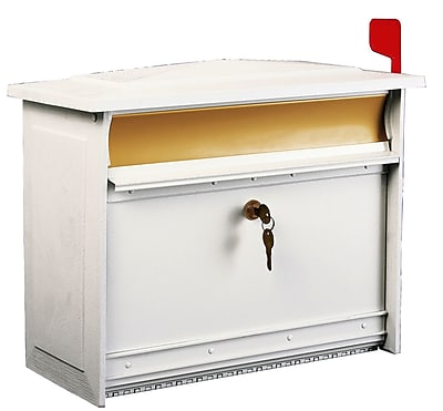 Gibraltar Mailboxes Mailsafe Locking Wall Mounted Mailbox; White